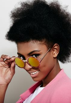 Esme Sunglasses - Esme is the friend you turn to when you have a big decision to make. She's wise, earnest, and always knows what you need to hear. You'll find her making room for newbies at her Yoga class, and always signing up to try something new. Whether she's hobnobbing at the theatre, or throwing darts at the pub, she's the friend who shakes up your life when you need it most. Her heart and her smarts shine through her smile and her style.