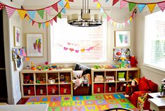 Cute and smart design - for the kids, like the kids! #playroom #design