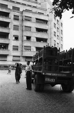 1956 str c a rosetti 02 masina cu butelii Socialist State, Socialism, Warsaw Pact, Central And Eastern Europe, Bucharest Romania, Old City, Cold War, Old Pictures, Old Town