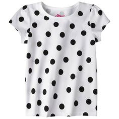 Circo® Infant Toddler Girls' Short Sleeve Polkadot Tee