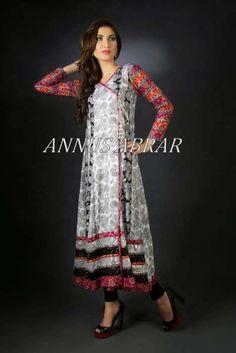 Annus Abrar Eid Collection 2014 | Latest Summer Wear Eid Dresses For Girls