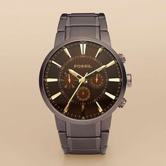 FOSSIL® Watch Styles Steel Dress Watches Men Dress Stainless Steel Watch –  Brown FS4357. Luxusní HodinkyPánská ... f7a60b23c63