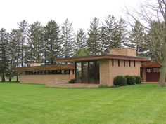 Muirhead House. 1950. Plato Center, Illinois. Usonian Style. Frank Lloyd Wright