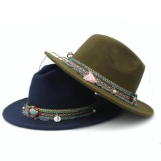 High Quality Wide Flat Brim Wool Felt Formal Party Trilby Fedora Hat  Fashion Women Lady Jazz Cap Hat with Ribbon Decoration  3097e5eaf3e6