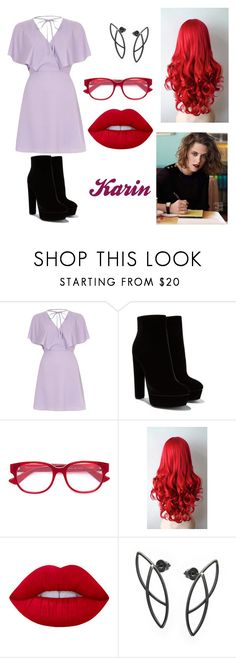 """""""Karin"""" by lilibessa on Polyvore featuring River Island, Gucci and Lime Crime"""