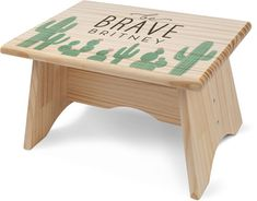 Brave Little One Step Stool by Shutterfly. A child can rise to every occasion with this personalizable, single-step wood stool. Made for kids ages Overall dimensions wide x deep x high. Custom Baby Gifts, Personalized Baby Gifts, Wood Stool, Name Gifts, First Step, Baby Names, Nursery Decor, First Birthdays, Baby Shower Gifts