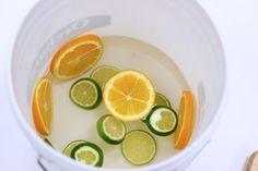 Prepare the bottom of the ice bucket