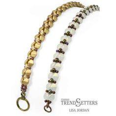 Free Beading Pattern A Pinch of Elegance Bracelet with Czech Glass Pinch Beads