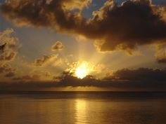 Sunset in the Marianas Mariana Trench, Guam, Islands, Ocean, Spaces, Celestial, Sunset, World, Water