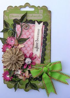 Like the flower center...a tutorial on how to use the fiskars threading water punch to make the border and the flower..