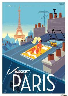 Cassis Havas Affiche Scène d/'été