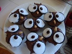 Back to School Owl Cupcakes