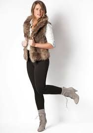 outfit with fur vest - Google Search