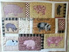 Pig Quilt The Quilt Cabinet