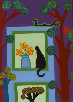 The Cat From Askew Crescent, 2008. Oil on linen, 72 x 52 cm. Private collection. #painting #oilpainting #finearts #contemporaryart #cristinarodriguez