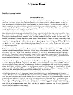 Sample Persuasive Essay Template Business Writing a