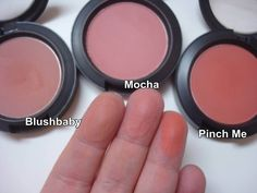 MAC Blushes Mocha, Blushbaby e Pinch Me