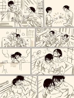 Attack On Titan Funny, Attack On Titan Fanart, Attack On Titan Ships, Eren And Mikasa, Eremika, Anime Expressions, Pretty Anime Girl, Comic Drawing, Titans Anime