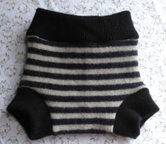 Wool diaper cover, Upcycled Wool soaker, Wool diaper cover $11.00 Small