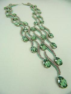 68 trendy Ideas for jewerly making necklace statement beautiful Wire Jewelry, Jewelry Crafts, Beaded Jewelry, Handmade Jewelry, Jewelry Necklaces, Beaded Bracelets, Embroidery Bracelets, Jewellery, Diy Schmuck