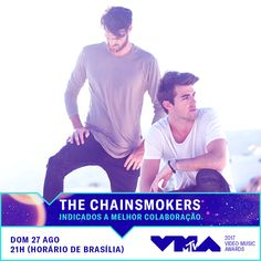 The Chainsmokers foram indicados ao Video Music Awards! Dia 27/8 na MTV Brasil 😍📺 #fashion #style #stylish #love #me #cute #photooftheday #nails #hair #beauty #beautiful #design #model #dress #shoes #heels #styles #outfit #purse #jewelry #shopping #glam #cheerfriends #bestfriends #cheer #friends #indianapolis #cheerleader #allstarcheer #cheercomp  #sale #shop #onlineshopping #dance #cheers #cheerislife #beautyproducts #hairgoals #pink #hotpink #sparkle #heart #hairspray #hairstyles…