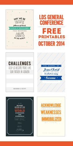 Free Printables  ||  Lovely Designed ldsconf-11