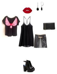 """One tee, more looks! Friday evening - time to dance!"" by teesuptshirts on Polyvore featuring BCBGMAXAZRIA, Marc Jacobs, Lime Crime and MaBird"