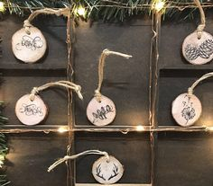 Rustic Wooden Christmas Decorations