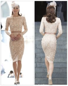 Absolute Sweetness Dripping off the Duchess of Cambridge. wearing an outfit by Alexander McQueen. Diamond Jubilee, June Kate, Katherine Middleton, fashion this dress! Looks Kate Middleton, Estilo Kate Middleton, Kate Middleton Outfits, Princess Kate Middleton, Kate Middleton Wedding, Duchess Kate, Duchess Of Cambridge, Champagne Lace Dresses, Princesa Kate