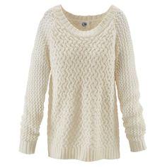 Pullover, Zopfmuster, kastig, Strick Vorderansicht