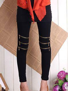 Long Cotton Casual Leggings Leggings from fashionmia.com