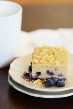 Blueberry Almond Coffee Cake from Pidge's Pantry