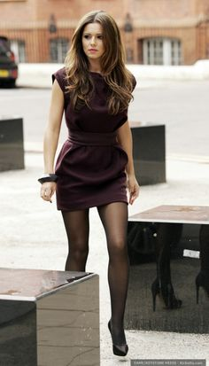 cheryl cole wearing a sexy dress and of course silky pantyhose.