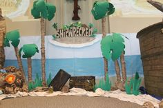 Our Shipwrecked VBS Stage