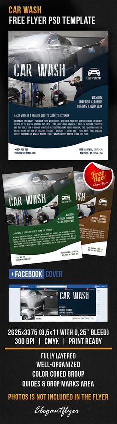 Car Wash Flyer Car wash, Cars and Poster layout - auto detailing flyer template