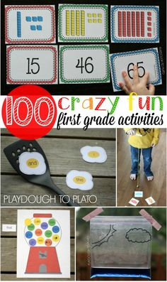 100+ first grade activities. Math games, cool science projects, free printables…