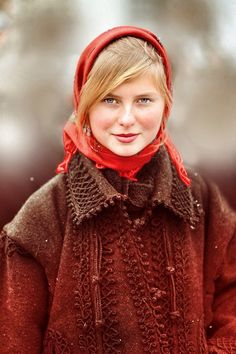 beauty. Young Romanian girl, dressed in a traditional 'outfit .