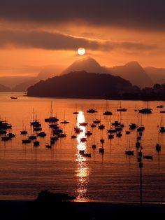 Sunset in Rio de Janeiro, Brasil