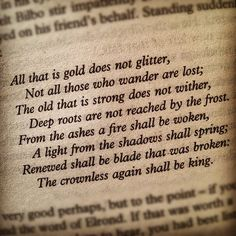 LOTR- All that is gold does not glitter.