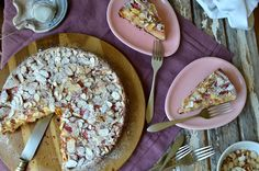 Rhubarb Almond Cake, and Preparing for Thanksgiving