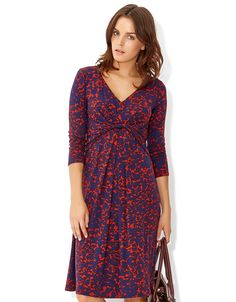 Lorraine Leaf Print Dress | Blue | Monsoon