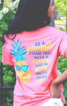 The motto every girl should live by- stand tall, wear a crown, and be sweet on the inside! This Monogrammed Pineapple Shirt is great as a gift for any preppy gal, or as a gift for yourself! Check out this shirt and other adorable shirts at Marleylilly.com! #preppymonogramshirts