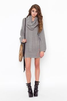 Sweater dress outfit Outfit of the week  Week: 7/2/13