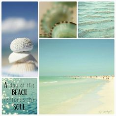 A Day At The Beach. #Moodboards #Mosaic #Collage by Jeetje♡