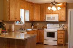 Peninsula in pole barn kitchen