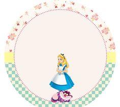 Tag ou toppers para docinhos ou cupcakes Alice no País da Maravilhas