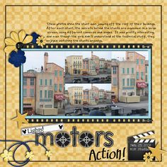stunt show scrapbook layout ideas - Google Search