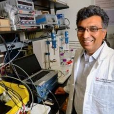 """Scientists create new battery that's cheap, clean, rechargeable ... and organic -- ScienceDaily. Date: June 25, 2014. Source: University of Southern California. Photo Credit: USC Photo / Gus Ruelas. """"Scientists have developed a rechargeable battery that is all organic and could be scaled up easily for use in power plants..."""" http://www.sciencedaily.com/releases/2014/06/140625132627.htm"""