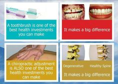 Treat your body like your do your teeth, with regular maintenance care.