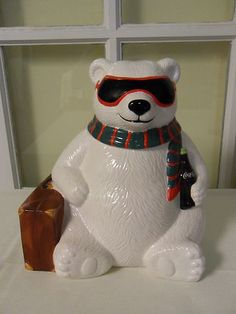 Coca-Cola Polar Bear with Sunglasses Cookie Jar